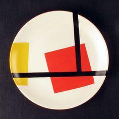 De Stijl Large Ceramic Plate
