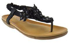 Crab 800 Womens Gladiator Comfort Floral Rhinestone Comfort Flat Sandals Black > Unbelievable  item right here! : Gladiator sandals