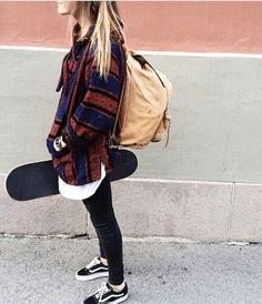Imagen de girl, skate, and vans