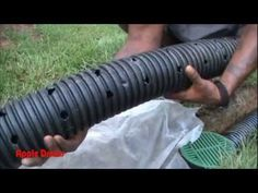French Drain for Do It Yourself Project - by Apple Drains, Charlotte NC