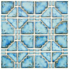 Moonlight x Porcelain Mosaic Tile in Diva Blue