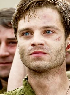 Captain America The First Avenger: Bucky Barnes. Look at those scars. They had started torturing him in 'The chair'. Poor guy shouldn't have gone back out into the field.