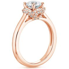 14K Rose Gold Fleur Diamond Ring (1/4 ct. tw.)