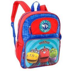 """Chuggington """"Let's Ride The Rails!"""" 16"""" with Wilson, Koko & Brewster Backpack"""