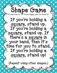 Miss Kindergarten: The Shape Game