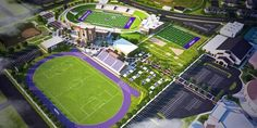 Renderings of the new Wildcat Football and Soccer/Track & Field stadiums as laid out in the Vision in Action initiative.