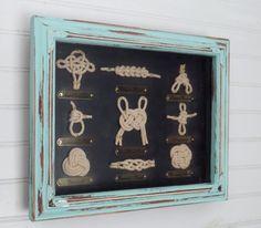 Sailor Knot Shadow Box// Nautical Knot// Framed Nautical Knots //Coastal Decor…