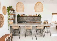 April 01 2020 at Boho Kitchen, Kitchen Decor, Kitchen Design, Tropical Kitchen, Bali Style Home, Interior Decorating, Interior Design, Minimalist Decor, Home Kitchens