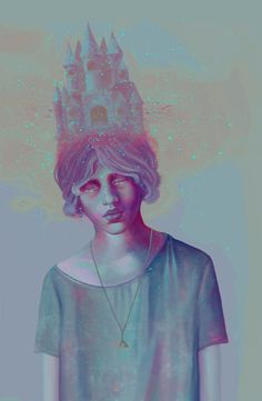 Somnium by Georgia Th, via Behance Illustration/Digital Art And Illustration, Kunst Inspo, Art Inspo, Psy Art, Wale, Portrait Art, Georgia, Love Art, Painting & Drawing