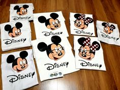 Disney Land Mickey and Minnie Mouse, painted T-shirts/ Disney Land Mickey and Minnie Mouse, tricouri pictate. On October 3rd, July 6th, Painted Cups, Hand Painted, Greek Pattern, Ceramic Angels, Flower Stands, Mickey Minnie Mouse, Disneyland