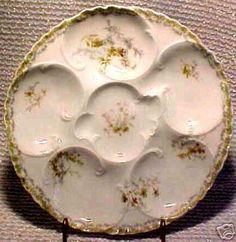 ANTIQUE HAVILAND LIMOGES OYSTER PLATE c.1888-1896