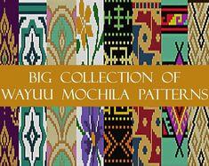 PATTERN: POLYNESIA - Set of wayuu mochila patterns - wayuu bag pattern - mochila bag pattern - tapestry crochet pattern - CHARTED pattern Tapestry Crochet Patterns, A Hook, Etsy App, Crochet Designs, Step By Step Instructions, Free Pattern, Stitch, Handmade, Collection