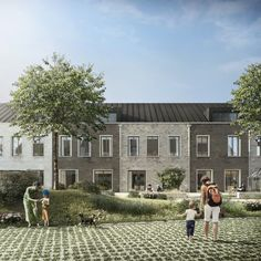 A UK-Swedish team featuring Mole Architects has been selected to design and deliver Cambridge's first co-housing scheme Brick Architecture, Architecture Visualization, Japanese Architecture, Architecture Details, Landscape Architecture, Architecture Drawings, Landscape Design, Co Housing Community, Social Housing
