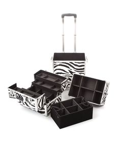 The Urbanity Classic Zebra Animal Print Beauty Trolley is perfect for professional mobile beauticians, nail technicians and hairdressers.  It breaks down so you can custom build it to suit your own needs.  With lots of seperate compartments, it's the perfect beauty storage solution!