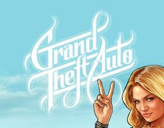 """Check out this @Behance project: """"GTA needs a Grand Typography Adjustment"""" https://www.behance.net/gallery/10750227/GTA-needs-a-Grand-Typography-Adjustment"""
