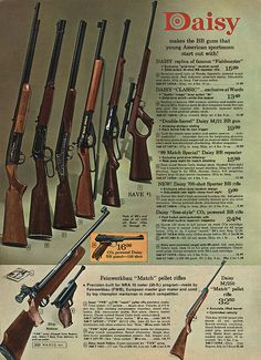 Daisy BB Guns in Montgomery Ward Christmas Catalog, 1968, by Wishbook, via Flickr.  I had one of these.
