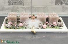 Angyalka és az ajándékok adventi koszorú - dekoráció (AKezmuvescsodak) - Meska.hu Advent, Table Decorations, Christmas, Diy, Home Decor, Xmas, Decoration Home, Bricolage, Room Decor