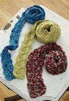 """Original pinner wrote, """"Skinny Scarves free crochet pattern."""