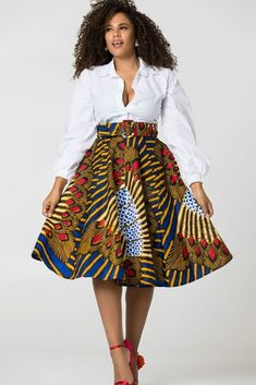 African Print Balbina Midi Skirt is sweet as summer - Shop Grass-fields. African Print Balbina Midi Skirt is sweet as summer – Shop Grass-fields. African Print Balbina Midi Skirt is sweet as summer – African Print Skirt, African Print Clothing, African Print Dresses, African Dress, African Prints, African Fashion Skirts, African Inspired Fashion, Africa Fashion, African Print Fashion