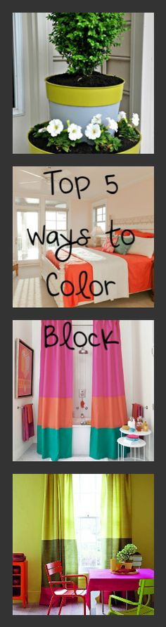 Color Blocking in your home decor