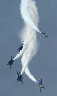 Don't miss the Annual Naval Air Show and watch the daredevil fighter jet pilots and the Blue Angels soar overhead! Military Jets, Military Aircraft, Fighter Aircraft, Fighter Jets, Tomcat F14, Us Navy Blue Angels, F22 Raptor, Red Arrow, Jet Plane