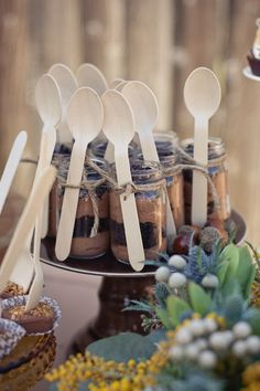 Love this!double chocolate mini mousse truffles... in mason jars!