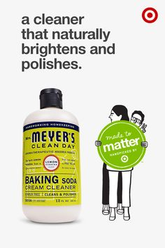 This brilliantly basic cream cleaner contains baking soda for a scratch-free cleaning that's tough on dirt and grime. From Mrs. Meyer's Clean Day, it's especially great for sinks, showers, tubs, pots and stovetops and naturally brightens and polishes as it cleans. This cleaner and other Mrs. Meyer's Clean Day products are part of Made to Matter, handpicked by Target, a group of products from 20 brands created to give you more natural, organic and sustainable options for everyday needs.