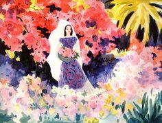 Visual Development from Saludos Amigos by Mary Blair