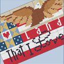 Patriotic free cross stitch pattern from BrookesBooksPublishing