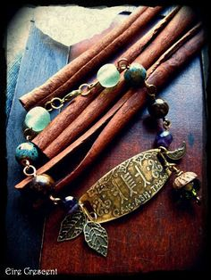 Oak Ash and Hawthorn Ogham Bracelet by EireCrescent on Etsy, $24.99