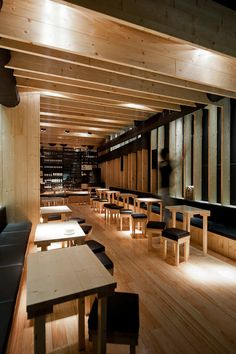 """Completed in 2011 in Porto, Portugal. Images by José Campos. The Bar """"La Bohème"""" (entre amis) is located in the """"Galeria de Paris"""" street, amidst the downtown area of Porto. Lounge Design, Design Café, Cafe Design, Bar Lounge, Design Bar Restaurant, Café Restaurant, Commercial Interior Design, Commercial Interiors, Commercial Architecture"""