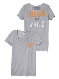 University of Tennessee Rolled Cuff Tee PINK