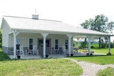 Pole Building Kits, Building Products, Metal Building Homes, Metal Homes, Building Ideas, Building A House, Small House Floor Plans, Pole Barn House Plans, Barn Garage
