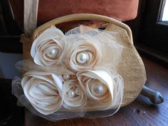 Golden wedding clutch Altered couture ivory and by 2007musarra, $45.99