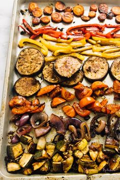 Learn how to roast vegetables in your oven in this flavourful balsamic vinegar marinade! Great for easy meal prep and they come out juicy and delicious!