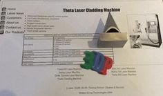 Known example of ST ST powder laser Printing. PERA project was part of EU funding but funds ceased 3 month before end of project & the development M/C was sold to Liverpool Uni Laser Cladding, Laser Machine, Control System, Uni, Liverpool, 3d Printing, Powder, Museum, Personalized Items