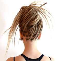 Funky+Knotted+Updo+For+Dreadlocks