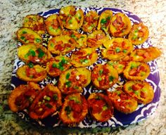 Potato Skins Loaded With The Cheese, Bacon, and Green Onions