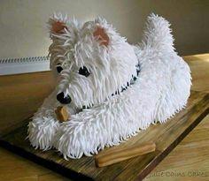 Westie Cake!                                                                                                                                                                                 More
