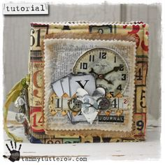 Fabric Joy Journal Featuring Tim Holtz Eclectic Elements Fabric (with step by step pictures)