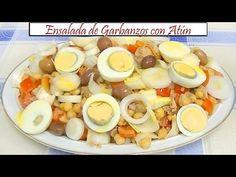 Ensalada de Garbanzos con atún | Receta de Cocina en Familia - YouTube