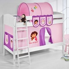 Dora The Explorer Bunk Bed With Curtain And Two Slats High Sleeper Bedroom NEW    Get Now  this Wonderful Opportunity. At Luxury Home Brands WE always Find Great Stuff for you :)