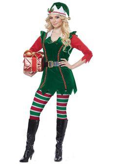 d53ce75367539 Festive Elf Adult Costume. Elf Fancy DressChristmas ...