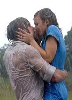 The Notebook - Noah (Ryan Gosling) and Allie (Rachel McAdams) share a lot of kisses, but nothing beats the postcanoe, pouring-rain moment! Ryan Gosling, Perfect Movie, Love Movie, Rachel Mcadams, Most Romantic Kiss, Romantic Kisses, Nicholas Sparks Movies, Movie Kisses, Romantic Movie Quotes