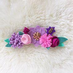 Fieltro corona de flores / vestido de novia corona de