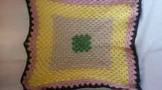 Crocheted Granny Square Baby Blanket  Pink by TheCrochetAnything