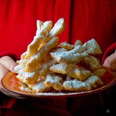 Also referred to as angel wings, these sugar-dusted Polish fritters are both crunchy and pillowy.