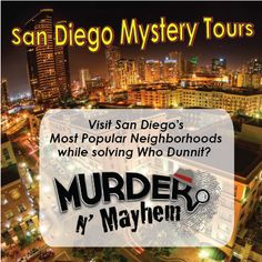 San Diego Mystery Tours - Samples from a few different series of branded posts for varied Social Media accounts