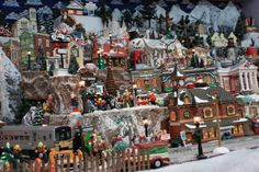 Christmas Village Ideas | Snow Village Display, After 20 years of collecting our Snow Village ...