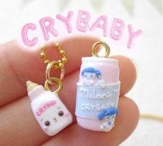 Melanie Martinez Merch, Melanie Martinez Carousel, Crybaby Melanie Martinez, Cry Baby, Awsome Pictures, Pink Milk, Clay Charms, Polymer Clay, Angel